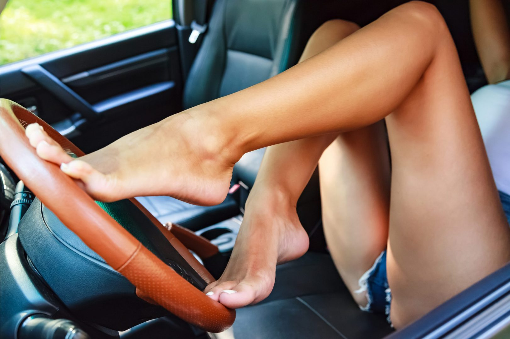 woman with sexy feet