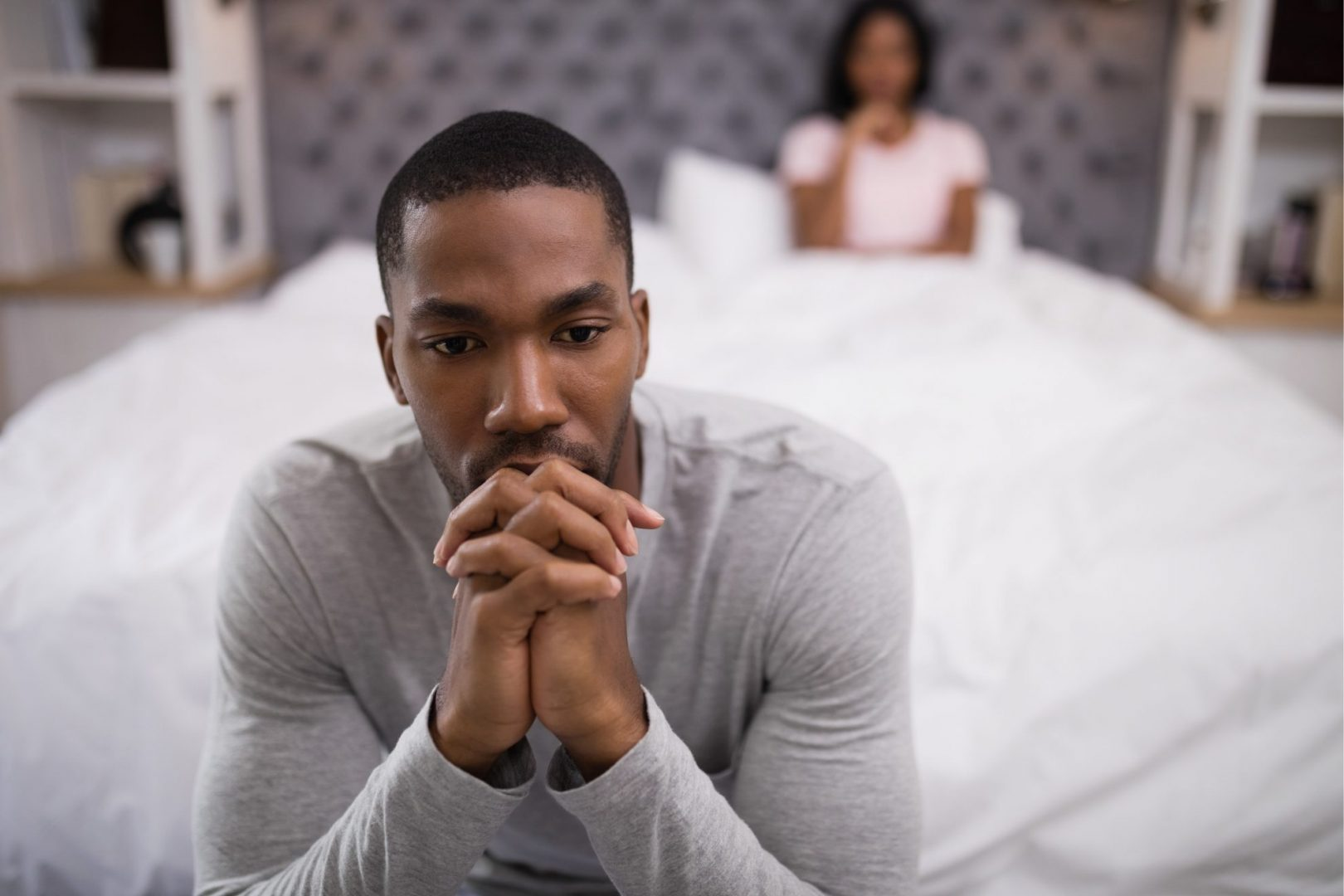 man experiencing sexual issues with his wife